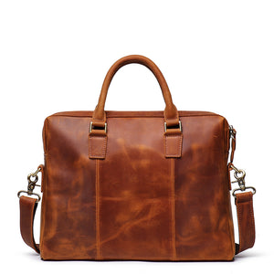 Personalized Gifts For Him, Leather Briefcase Business Bag Laptop Bag Handbags For Men - icambag