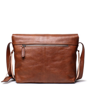 Genuine Leather Messenger Bag for Men,Personalized Leather Bag, Gift Gor Him - icambag