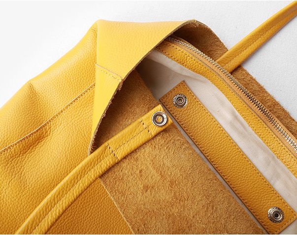 Handmade Leather Tote Bag Fot Mom Women's Shopping Bag Christmas Presents - icambag