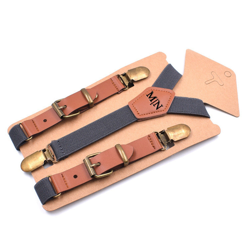 Personalized Groomsman Gifts, Mens Suspenders,Groomsman Wedding Suspenders, Best Man Gift - icambag