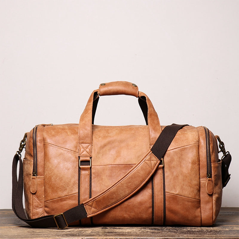 Unique Duffle Bag Vintage Leather Duffle Bag Good Big Size Travel Bag Gym bag Big Space - icambag