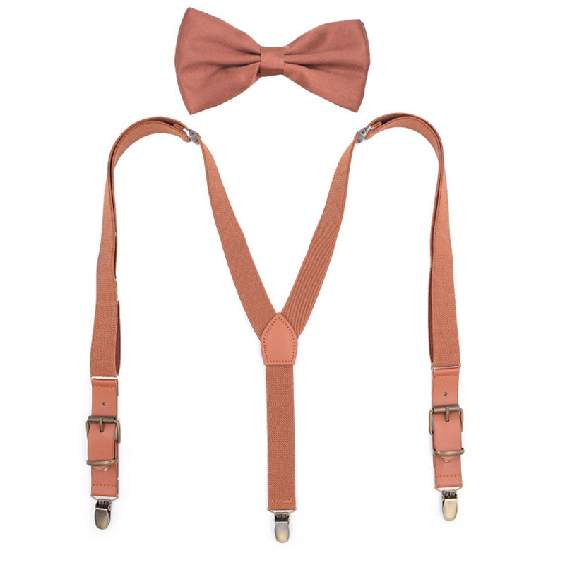 Personalized Groomsman Gifts, Mens Suspenders With Bow Tie,Groomsman Wedding Suspenders, Best Man Gift - icambag