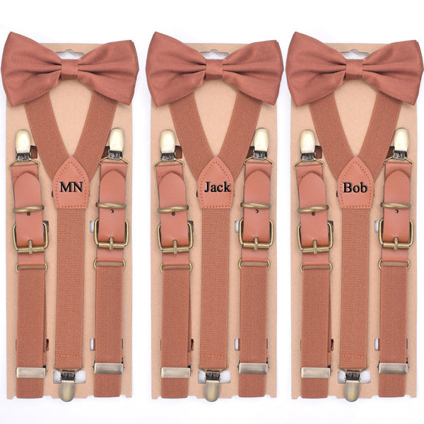 Personalized Groomsman Gifts, Mens Suspenders With Bow Tie,Groomsman Wedding Suspenders, Best Man Gift