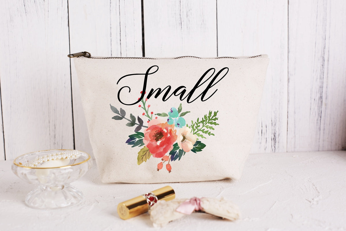 Wedding Makeup Cosmetic Bags/Personalised Bridesmaid Gift Make Up Bag/ Maid of Honour Gift/Unique Gift for Bridal Party - icambag