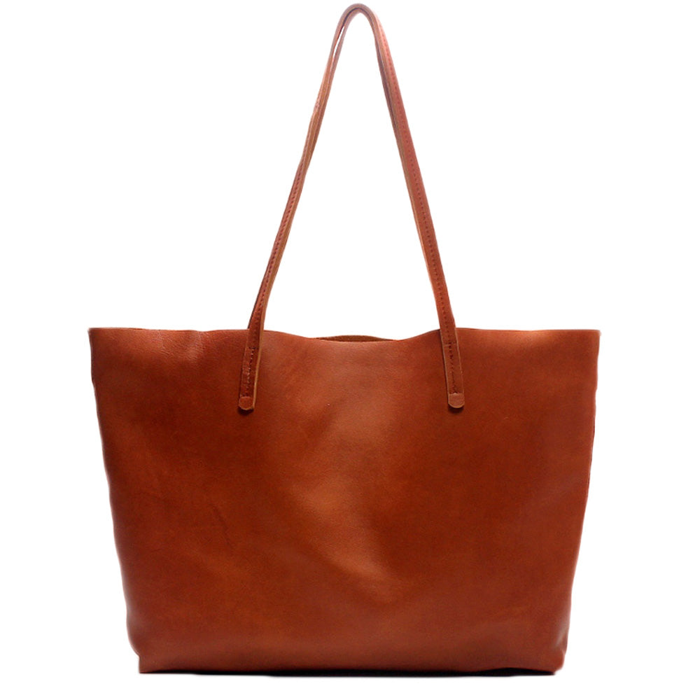 5a42be00adef Handmade Modern Fashion Genuine Leather Big Large Tote Bag Leather Men s  and Women s Shopping Bag