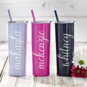 Personalized Tumbler, Bridesmaid Gift, Stainless Steel Tumbler, Will You Be My Gift, Bridesmaid Proposal, Bacholette Party, Skinny Tumbler - icambag