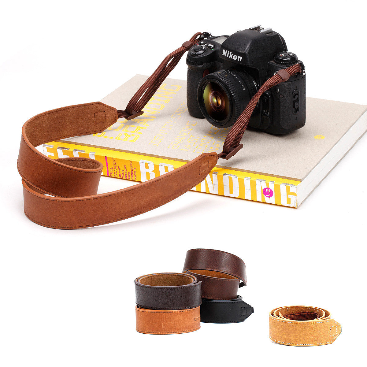 Genuine Leather Vintage Handmade DSLR Professional Camera Strap - CS181 - icambag