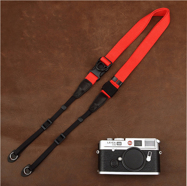 Ninja Multicolor Cotton DSLR Handmade Leather Camera Strap CS124 - icambag