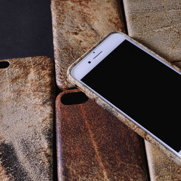 Italian Vintage Cowhide Cool Cell Phone Cases For iphone 6 Plus/6s Plus/7 Plus - icambag
