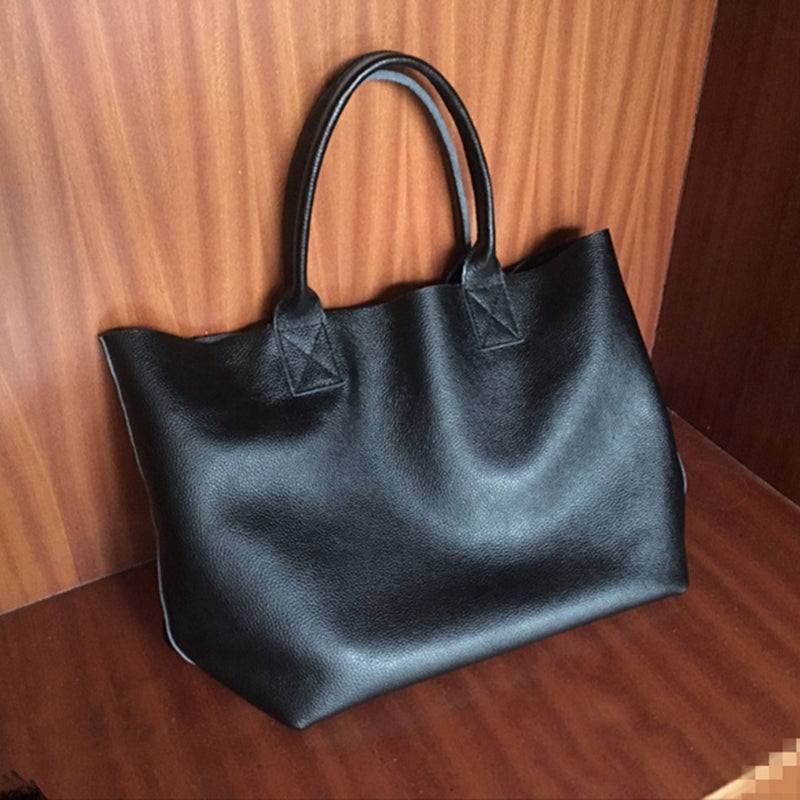 Handmade Full Grain Leather Bag Vintage Leather Tote Bag Shoulder Bag Handbag For Women 7152 - icambag