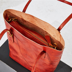 Top Grain Leather Simple Design Tote Bag, Vintage Shoulder Bag BF047 - icambag
