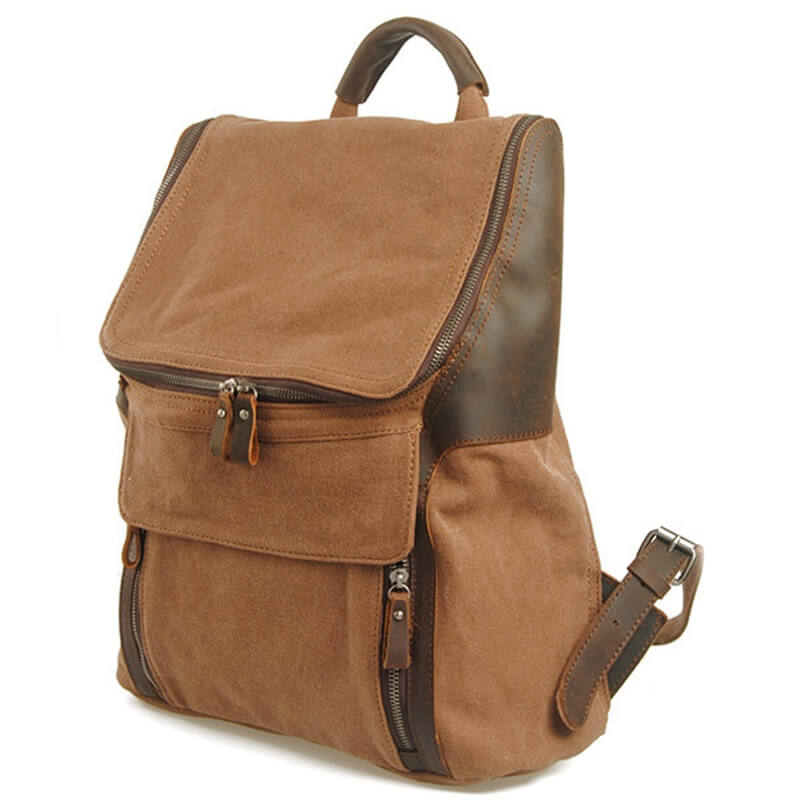 Retro Leather Shoulder Leisure Men's And Women's School Bag 2165 - icambag