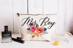 Personalised Bridesmaid Gift Make Up Bag/Per Wedding Makeup Cosmetic Bags/ Maid of Honour Gift/Unique Gift for Bridal Party - icambag