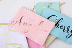 Personalized Makeup Bag, bridesmaid Gift,Wedding Party Gift for Bridesmaids, Bridesmaid Proposal, Cosmetic Bag, Bachelorette Party Favor - icambag