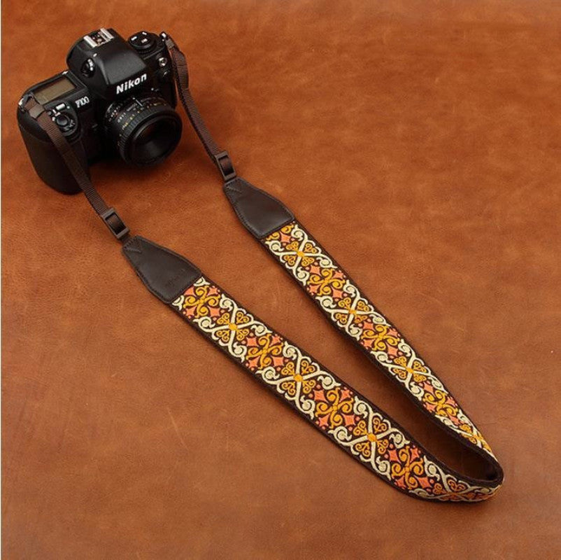 National Style Strap Handmade Leather Camera Strap 8438 - icambag