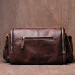 Vintage Crazy Horse Leather bag Original Handmade Postman Bag Leather Cross Body Bag Casual Shoulder Bag Message Bag - icambag