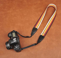German Wind Rainbow Stripe DSLR Camera Strap For Canon/Nikon 8244 - icambag