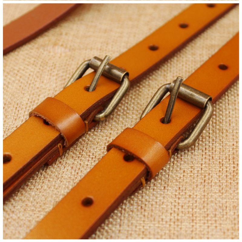 Wedding Groomsmen Leather Suspender, Men's Suspenders in Yellow Brown