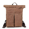 Casual Waxed Canvas Backpack, Handmade Travel Bag, School bag AF07 - icambag