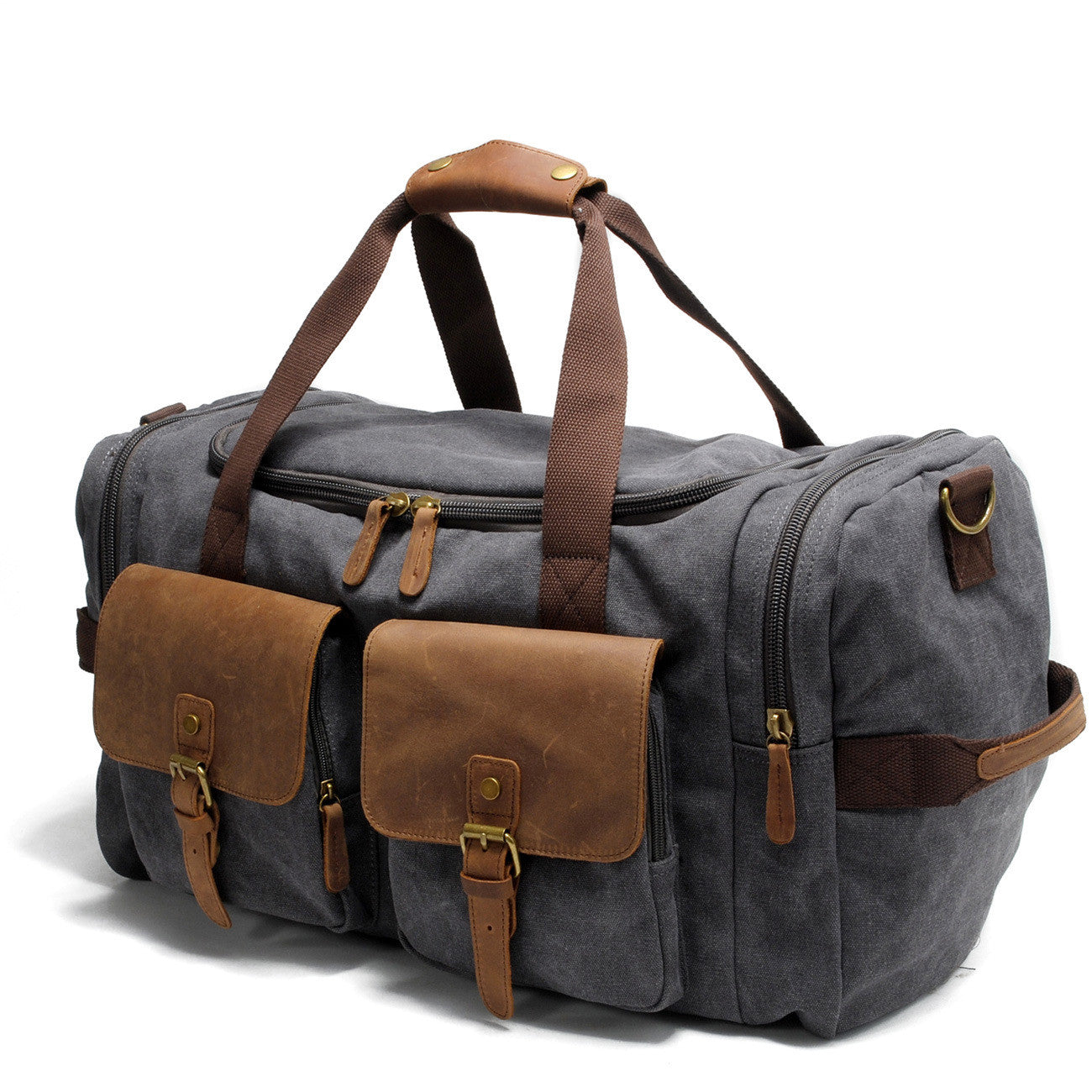 Vintage Canvas Messenger Bag Big Travel Bag 9133 - icambag