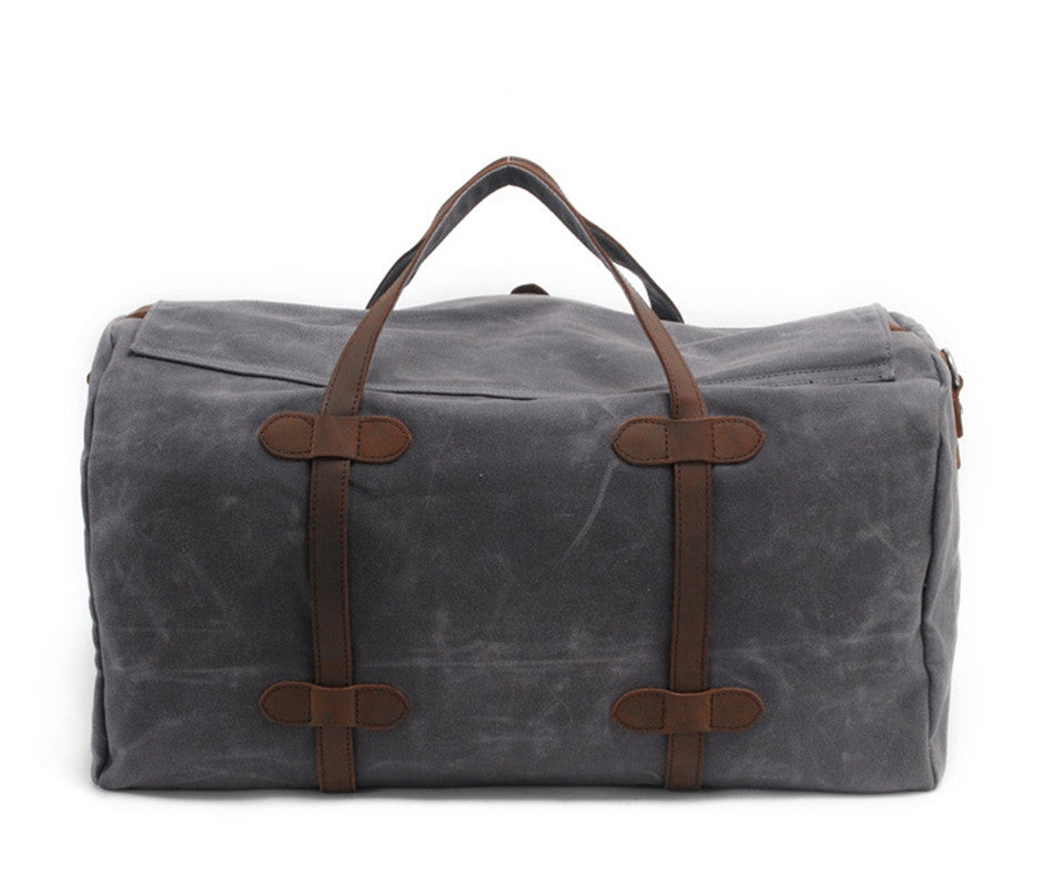 Vintage Canvas Messenger Bag Big Travel Bag 2032K - icambag