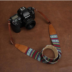 Blue Strap Handmade Leather Camera Strap Bohemia Style 7226 - icambag