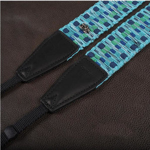 Blue Strap Handmade Leather Camera Strap Bohemia Style 8297 - icambag