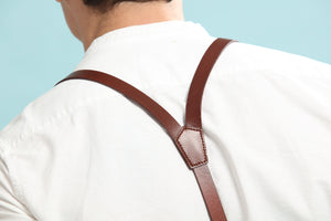 Personalized Groomsman Gifts, Mens Suspenders, Leather Suspenders,Groomsman Wedding Suspenders - icambag
