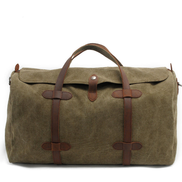Retro Canvas Messenger Bag Big Travel Bag 2033K - icambag