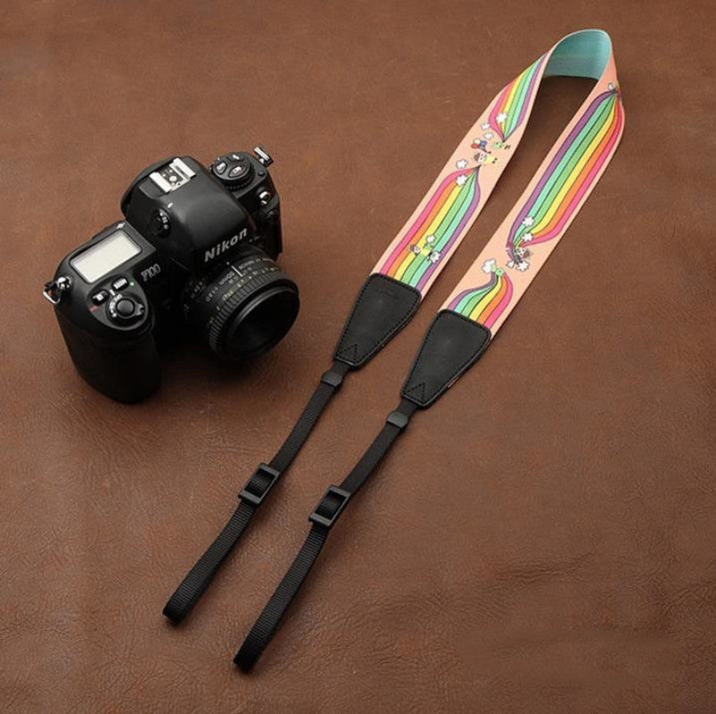 Cartoon Series Color DSLR Strap Handmade Leather Camera Strap 8723 - icambag