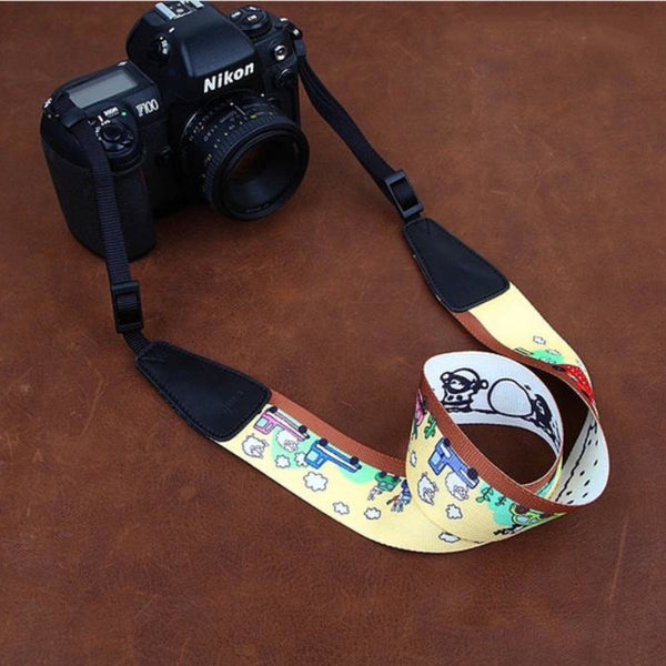 Cartoon Series Color DSLR Strap  Handmade Leather Camera Strap 8724 - icambag