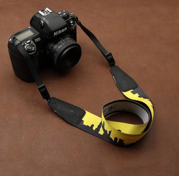 Cartoon Series DSLR Strap  Handmade Leather Camera Strap 8722 - icambag