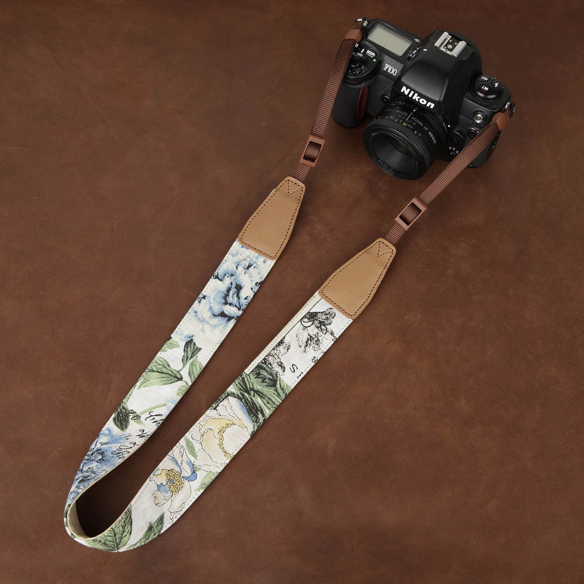 Flower China Style Handmade Leather DSLR Camera Strap CS235 - icambag