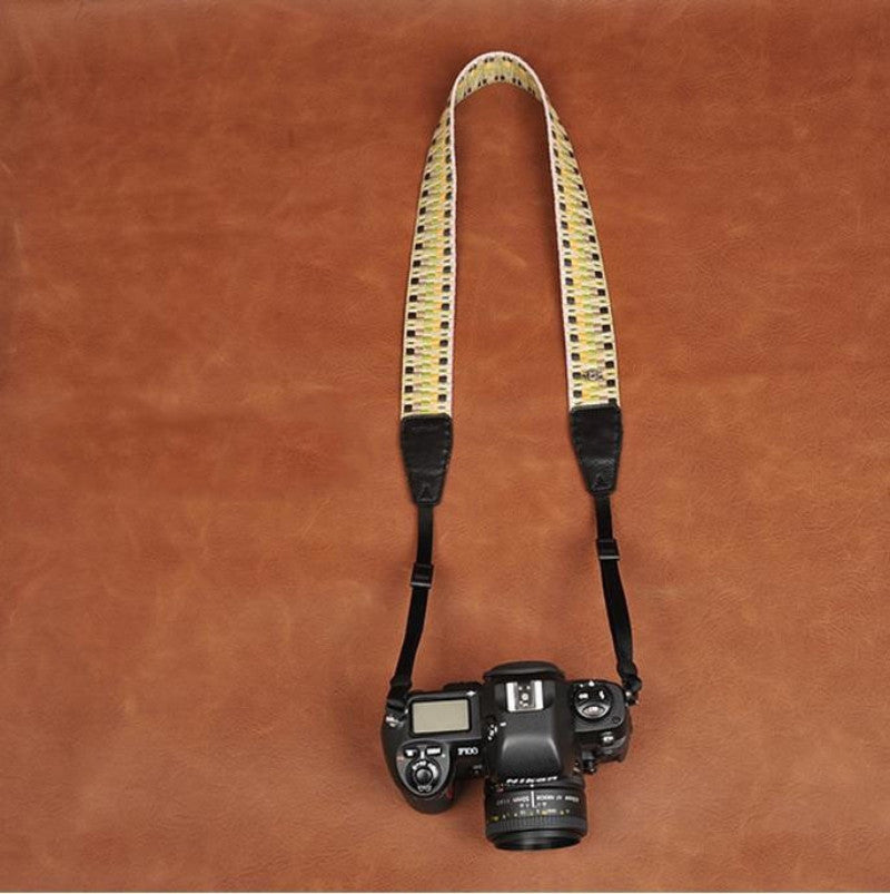 Color Series Weaving Style Strap  Handmade Leather Camera Strap 8291 - icambag