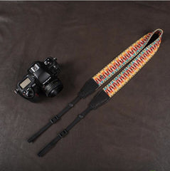 Colorful Strap Leather Camera Strap Bohemia Style-8290 - icambag
