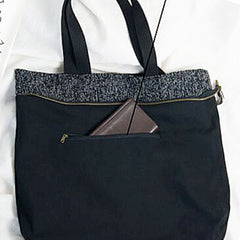 Compact Popular Women's Canvas Leisure Tote Bag 00320 - icambag
