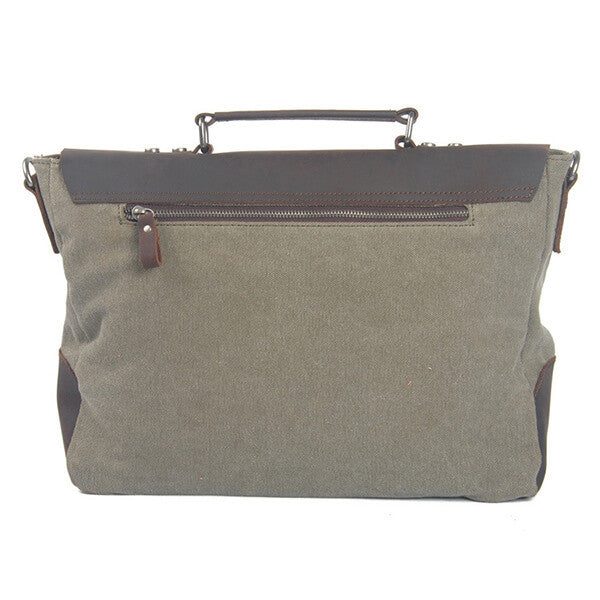 Fashion Tote Men's Leisure Leather Canvas Message Bag 8896 - icambag