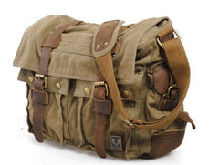 Green DSLR Vintage Leather Camera Bag - icambag
