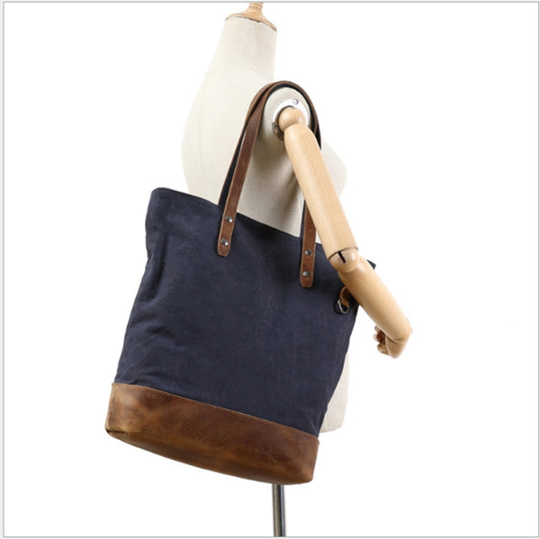 Handcrafted Canvas Tote Handbags For Women - icambag