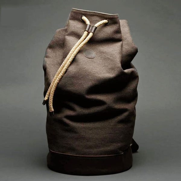 "Handmade Canvas  Backpack ,15"" Laptop Backpack ,Safari  Bucket Bag 00162 - icambag"