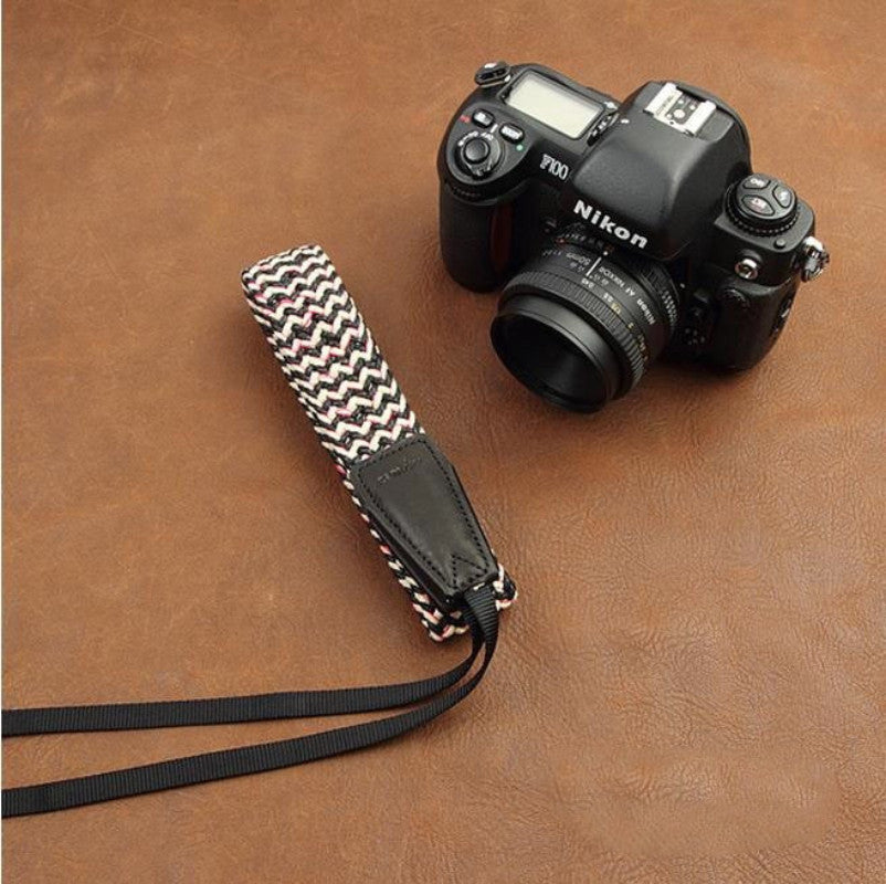 Handmade DSLR Leather Camera Wrist Strap - 8779 - icambag