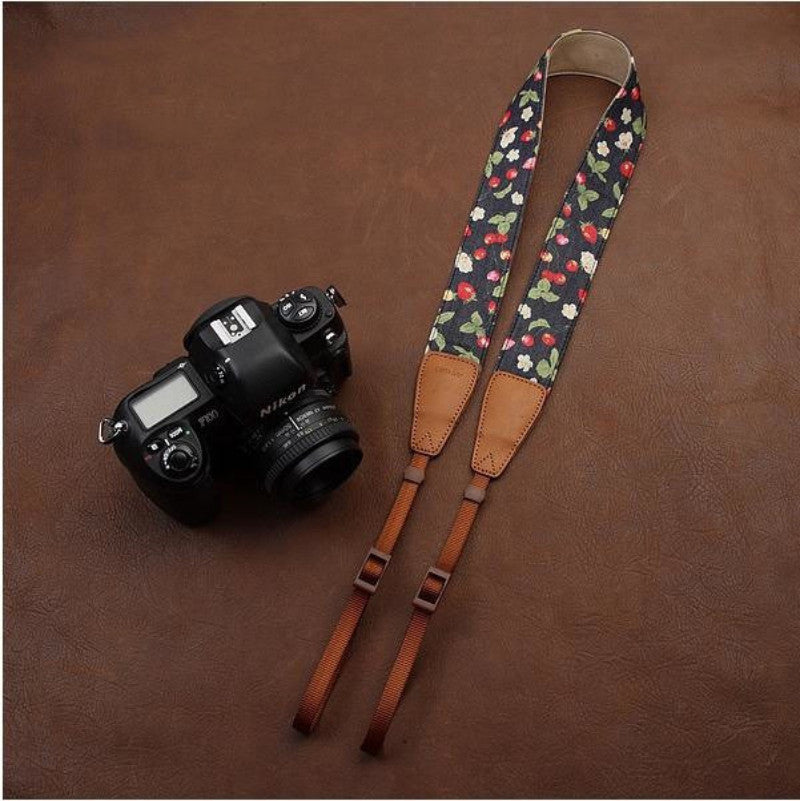 Handmade Leather Camera Strap Brown- 7110 - icambag