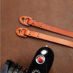 Handmade Leather Camera Strap Brown 3214 - icambag