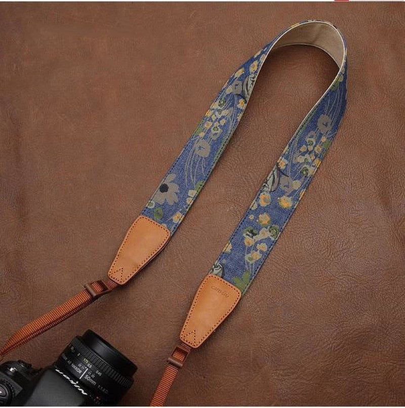 Handmade Leather Camera Strap in Brown- 7132 - icambag