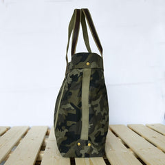 Handmade Top Grain Bag, Men'And Women' Canvas Single Shoulder Bag,14'Laptop Bag 00173 - icambag