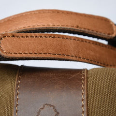 Khaki Vintage Canvas Sports Travel Bag 00203 - icambag