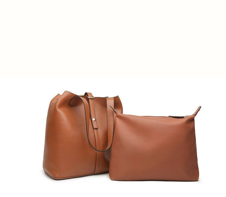 Leather Tote Bag Women Leather Bag Women Bag Fashion Tote IPAD Air Inside little Bag W1001 - icambag