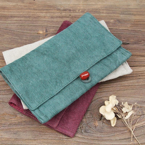 Mini Retro Linen Leisure Compact Coin Purse/ Phone Bag 062 - icambag