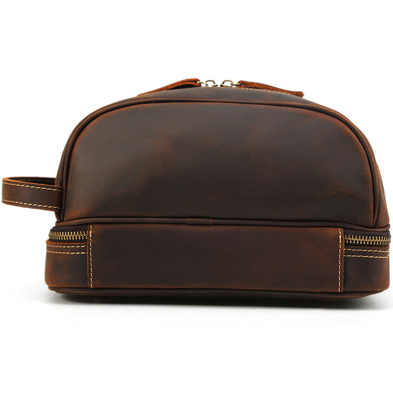Men Gifts Leather Toiletry Bag Personalized Dopp kit Monogrammed Cosmetic Bag Valentine's Day Gifts - icambag