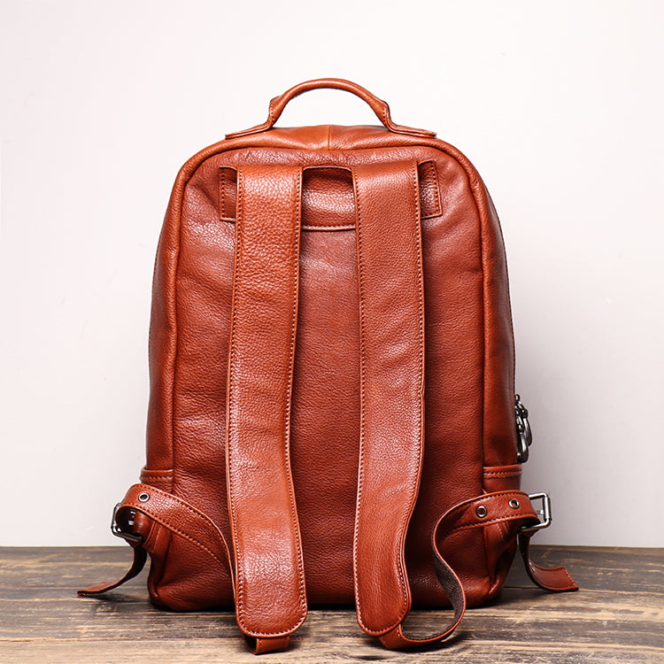 Men's Shoulder Bag Head Layer Cowhide Leather Retro Leather Travel Bag Casual Computer Package Fashion Women Backpack - icambag